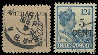 Curacao - 2 Hulpuitgiftes 1918 (nr. 73+74, gebruikt)