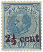 Curacao - Hulpzegel 1895 (nr. 24, ongebruikt)