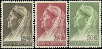 Curacao - Koningin Wilhemina met sluier 1936 (nr. 135-137, ongebruikt)