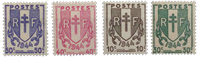 Frankrig - YT 670-73 - Postfrisk