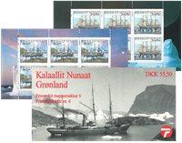 Grønland - Frimærkehæfte nr. 6 - dampskibe