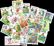 50 frimærker - Fodbold