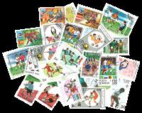 25 frimærker - Fodbold VM