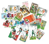 FIFA World Cup - 50 different stamps