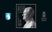 Grønland - Prins Henrik 80 år - Postfrisk miniark