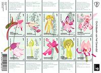 Pays-Bas - Orchidées - Feuillet neuf 10v