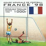 Togo - Coupe du Monde de football - Bloc-feuillet et série de 6v, neufs