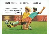 Bénin - Coupe du Monde de football - Bloc-feuillet et série de 6v, neufs