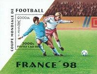Laos - Coupe du Monde de football - Bloc-feuillet et série de 6v, neufs