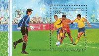 Guinée - Coupe du Monde de football - Bloc-feuillet + série de 5v