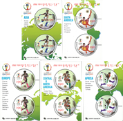 South Korea - FIFA World Cup - Mint set of 5 souvenir sheets