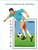 Congo - Coupe du Monde de football - Bloc-feuillet et série de 6v, neufs