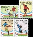 Burkina Faso - Fodbold VM - Postfrisk sæt 4vt