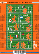 Netherlands - FIFA World Cup - Mint sheetlet 10v