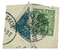 Færøerne 1919 - Halveret 4 øre på brev