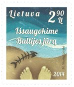 Lituanie - Sauvez la Mer Baltique - Timbre neuf
