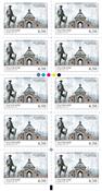 Danmark - Herregårde - 6.50 kr Postfrisk 10-stribe