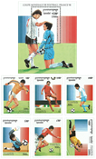 Cambodia - FIFA World Cup - Mint souvenir sheet and set of 6v