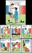 Cambodia - Jalkapallo MM - Postituore sarja (6) ja blokki