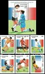 Cambodia - Fodbold VM - Postfrisk miniark og sæt 6v