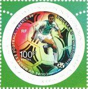 Nouvelle Calédonie - Coupe du Monde de football - Timbre rond neuf
