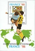Laos - Coupe du monde de football - Bloc-feuillet et série de 5v, neufs