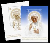Vatikanet - Kanonisering af paver - Postfrisk miniark