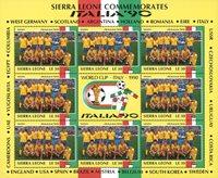 Sierra Leone - Sveriges VM fodboldhold 90 Miniark