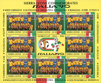 Sierra Leone - Swedens team for the World Cup 90