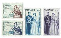 Monaco luftpost YV PA 73+74+76+78