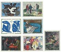 法国首7枚以名画为主题的邮票