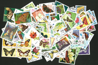 Papillons et insectes - 250 timbres diff.