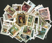 Tableaux - 250 timbres diff.