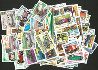 Voitures et motos - 250 timbres diff.