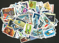 Espace - 250 timbres diff.