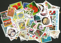 Fleurs - 250 timbres diff.