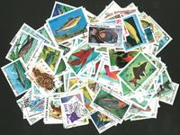 Poissons et vie marine - 250 timbres diff.