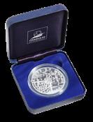 Frankrig - sølvmønt fredsdue/VM fodbold 1998