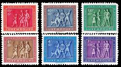 Luxemborg 1953 - Postfrisk - Michel 517-22
