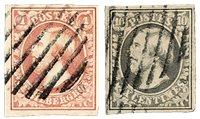 Luxemborg 1852 - Stemplet - Michel 1-2
