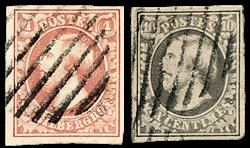 Luxembourg 1852 - Oblitéré - Michel 1-2