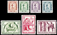 Belgique 1956 - Neuf avec charnière - OBP 998-1004