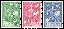 Belgien 1953 - OBP 927-29 - Ubrugt
