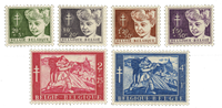 Belgique 1954 - Neuf avec charnière - OBP 955-60
