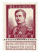 Belgien 1912 - OBP 122 - Ubrugt
