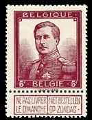 Belgium 1912 - OBP 122 - Unused