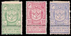 Belgique 1894 - Neuf avec charnière - OBP 68-70