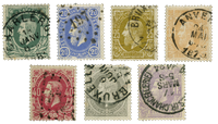 Belgique 1869 - Oblitéré - OBP 30-36