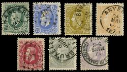 Belgien 1869 - OBP 30-36 - Stemplet