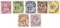 Belgien 1884 - OBP 46-52 - Stemplet